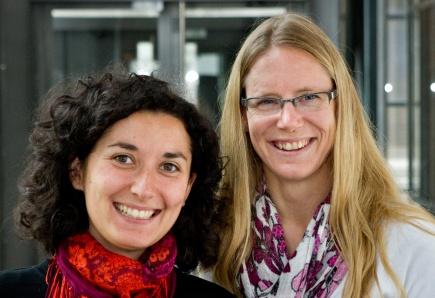 Anne Chapuis (t.v.) og Hilde Hauge