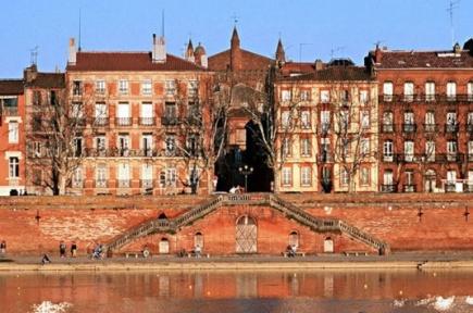 Langs elven Garonne i Toulouse
