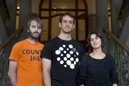 From left: Fredrik Andersen, Elias Nunez, Rani Lill Anjum