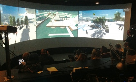 Presentations of students work at VR-Lab