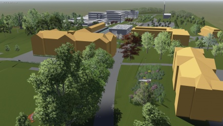 Visualization for NMBU campus. Master study by Thomas Hansen.