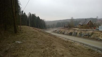 Veien er lagt p andre siden av Einerstua.