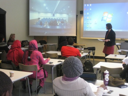 Lecturing with the use of video conferencing.<br />Students from NMBU and COMSATS, Pakistan.