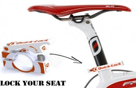 Quick-Lock skal sikre at tyver ikke fr stjlet sykkelsetet.