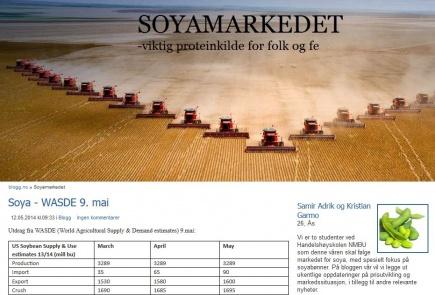 Blogg om utviklingen i markedet for soya, en rvare som spiller en sentral rolle i norsk og internasjonalt landbruk.