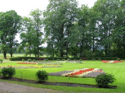 Sommerbeplantning UMB-parken 2009 - De nordiske flaggene