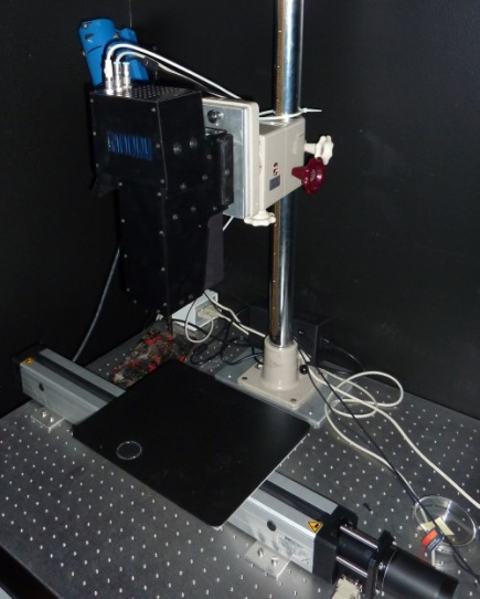 The hyperspectral camera in the Visualisation Laboratory at IMT