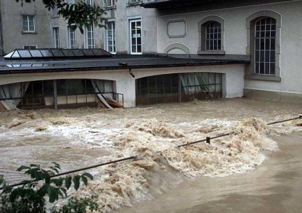 Flooding in the city