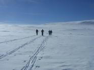 Yngve holder god kontakt med venner fra studiene på NMBU. Her på en guttetur på fjellet.<br />