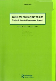 Cover: Forum for Development Studies