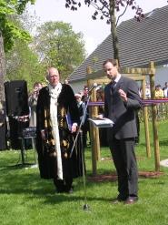 Rektor Knur Hove og kronprinsregent Hkon Magnus