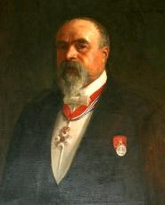 Foto av portrettmaleri av Hirch. maleriet henger i styrerrommet i 2.etg.i Cirkus