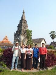 DIADEN workshop participants at temple