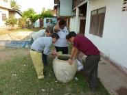 Dengue mosquito larvae container