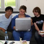 Gruppearbeid, en deltaker fra den tyske gruppe var fra Kina